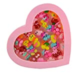 #7: Days Off Animal Faced Colorful Princess Jewllery Birthday Party Rings for Girls Pack of 36 Pcs