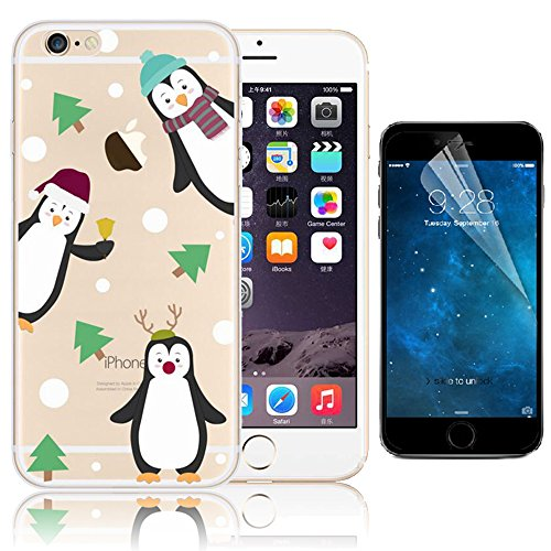 iPhone 6 Plus Cover, Bonice iPhone 6S Plus Custodia (5.5), Ultra Slim Thin Morbido TPU Clear Trasparente Animale Cat Case Pattern 19