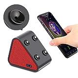 Bluetooth lautsprecher boxen, Jocund Dreieck Mini Saugnäpfe Sound Box Musikbox mit Bluetooth für handy Smartphone Ständer Halterung PC Lautsprecher 8 Stunde Spielzeit -Rot