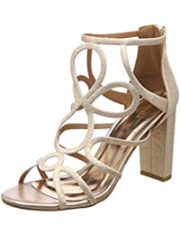 Catwalk Women's Gold Block Heel Sandals Fashion