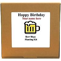 Personalised Happy Birthday Beer Hops Planting Kit - Unusual Indoor Gardening Gift