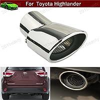 1pcs 57 mm Tubi di prolunga scarico marmitta di scarico tubo di coda punta curva in acciaio inox universale in acciaio inox per Toyota Highlander 2007 - 2016