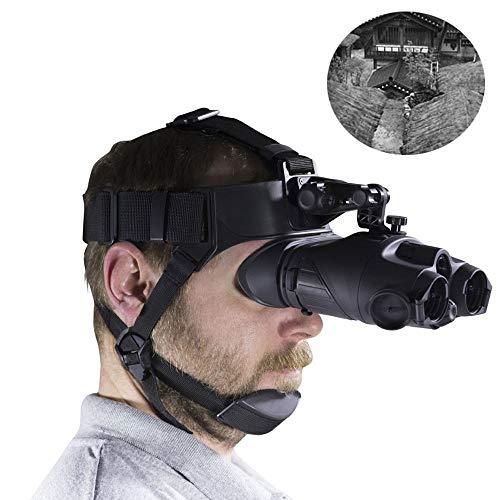 Visión nocturna HD - 1X24 Casco Infrarrojo Visión nocturna binocular Envío gratuito Telescopio nocturno de caza para juego de caza y exploración