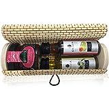 Baule in Vimini allungato e cilindrico con tarrito Marmellata Di Lampone E 2bottiglie, una Miniature di olio e aceto, Pack 24UD)