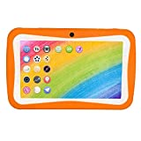 Fulltime E-Gadget Tablette, 7 Zoll Kinder 1024 * 600 Tablet 1G+8G Android A33 Quad-core Wireless 3000 mA Batterie WiFi Foto Learning Home Teaching Studenten (Orange)