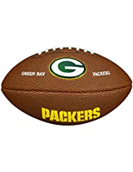 Wilson NFL Team Logo Green Bay Packers - Mini balón de fútbol americano, color marrón, talla única