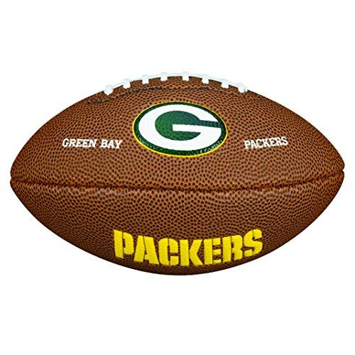 Wilson NFL Team Logo Mini Green Bay Packers American Football, Braun, Größe Mini
