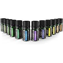 Oli Essenziali Puri Anjou Set di Oli Essenziali con 12 Oli per l'Aromaterapia, 100% Puri, 5 mL Ciascuna