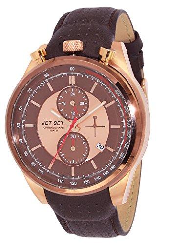 Jet Set - J1186R-736 - Turin - Montre Homme - Quartz Chronographe - Cadran Marron - Bracelet Cuir Marron