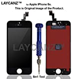 LAYCANZ Apple iPhone 5S Black Bezel Frame Full Assembly + LCD Display