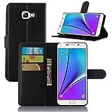 Supremery Case Samsung Galaxy A3 (2016) A310F de protection Étui [BLACK] Etui pour Samsung Galaxy A3 (2016) Flip Cover