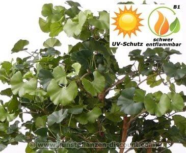 künstlicher Ginkgo Baum UV geschützt und schwer entflammbar, 150cm – künstliche Bäume Dekobäume Kunstbäume Kunstpflanzen