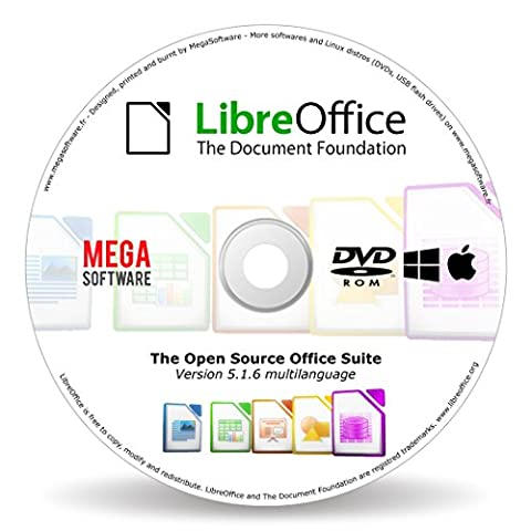 LibreOffice - kompatibel mit Microsoft Office Word und Excel 2003, 2007, 2010, 2013, 2016, Office 365 Student, Home, Pro