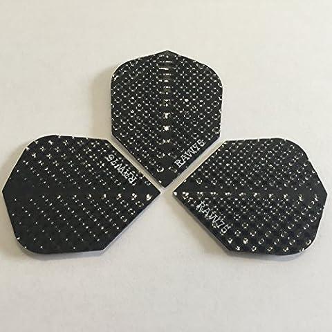 Harrows Dimplex Black Dart Flights 4 Sets (12 Flights) by Harrows Darts