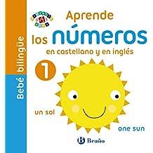 Bebé bilingüe. Aprende los números en castellano y en inglés (Castellano - A Partir De 0 Años - Proyecto De 0 A 3 Años - Libros Manipulativos)