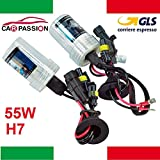 Kit de 2 lampes au xénon HID, H7,55W, 5000K, 12V