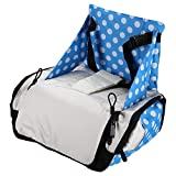 #4: Urban Kings multi-function baby booster seat,baby diaper bag, mummy bag (BLUE DOTTED)