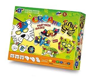 Feuchtmann Juguetes 6347003 - Klecksi Creame Partybox Máscaras, 3D - Dibujos para Colorear, 6 diseños