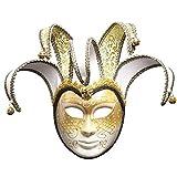 Fulltime E-Gadget Cosplay Weihnachtsfeier Maske Venezianische Joker Maskerade Theatermaske Karneval-Party-Ballmaske (Weiß)