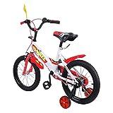 MuGuang 16 Zoll Kinder Fahrrad Kinder Fahrrad Lernen Reiten Fahrrad Jungen M?dchen Fahrrad mit Stabilisatoren Children Bike für 3-5 Jahre (rot)