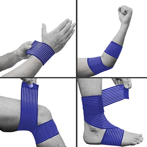 Blue-Calf-Compression-Wrap-Stabilizer-Support-Strap-Bandage-Strain-Sprain-Joint-High-Elasticity-for-Running-Jogging-Walking-Crossfit-and-Fitness-Athletes