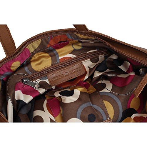 Greenburry Boomer Shopper Tasche Leder 42 cm camel