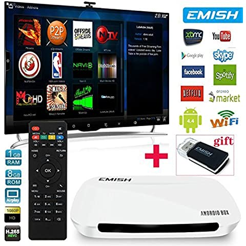 Emish X700 Full Hd 1080P Android 4.4 Tv Box Rockchip