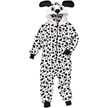 Animal Crazy Childs Girls Boys Supersoft Fleece Dalmatian Onesie Jumpsuit Playsuit