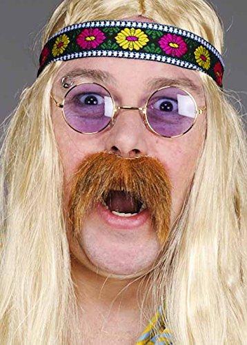 1970er Jahre Blonde Hippie Fake Schnurrbart