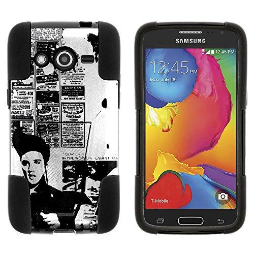 Schutzhülle für Samsung Galaxy Avant SM-G386T (T Mobile, MetroPCS) von Miniturtle, inkl. Displayschutzfolie und Eingabestift, Rock Like Elvis (Tmobile Handy Samsung)