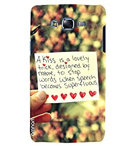 Omnam Truly Love Quote Printed With Background Blurr Effect Designer Back Cover Case For Samsung Galaxy J7