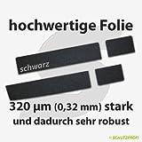 Türschwellerschutzfolien 320 µm - schwarz - für TOYOTA AURIS 5-Türer + Kombi (Touring Sports) ab 2013