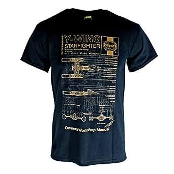 Official T Shirt STAR WARS Black Y-WING Gold Haynes XXL
