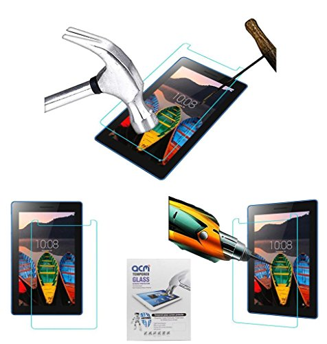 Acm Tempered Glass Screenguard Compatible with Lenovo Tb3-710i Screen Guard Scratch Protector