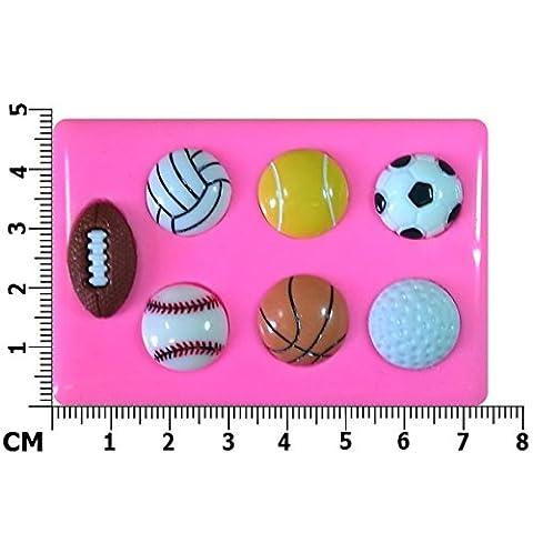 De Sport de Golf de Tennis de Rugby Football Basketball Baseball Moule en silicone Moule pour décoration gâteau glaçage pour gâteau Sugarcraft outil de fées Blessings