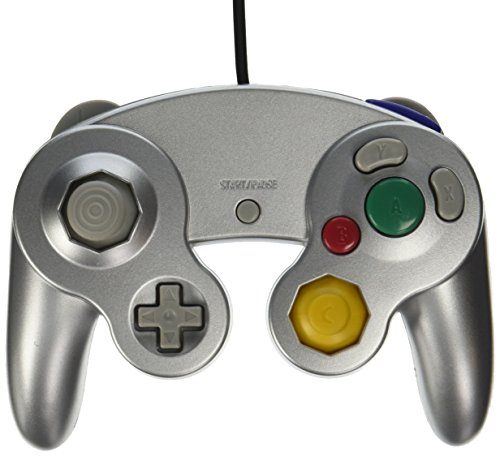 Old Skool Wired Nintendo Gamecube / Wii Compatible Controller (Silver) - Mario Brothers Super Spiel
