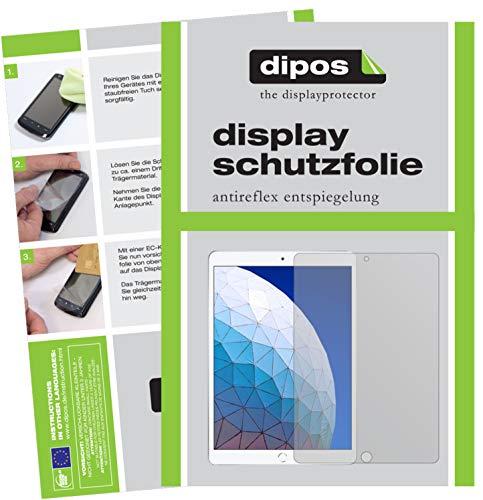 dipos I 2X Schutzfolie matt kompatibel mit Apple iPad Air (2019) 10.5 Zoll Folie Displayschutzfolie