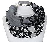 PiriModa XXL Damen Schal leichter Schlauchschal Viele Farben (Grau/Natur/Schwarz)