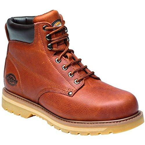 Dickies , Chaussures de sécurité pour homme Marron Brun Brun Foncé