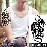 tzxdbh 3Pcs-Impermeabile Tatuaggio temporaneo da Uomo Tatoo Aquila di Loto Mandala Occhio Fiamma Totem 12 * 19 cm Water Transfer Tatto per Uomo 3Pcs-