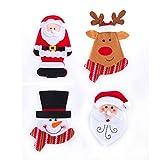 4pz decorazioni di Natale posate da tavola borse tasche Covers festival ornamento per casa party cucina