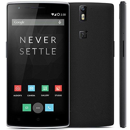 OnePlus OnePlus ONE Smartphone 4G LTE 3GB RAM 2,5 GHz Snapdragon 801 5,5 Zoll Gorilla Glass FHD 64GB ROM, Schwarz
