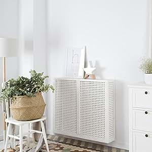 Nordic Copritermosifone 92,5Cm - Legno - 92x18x78 cm - Colore Bianco Snow