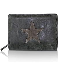 af332588c4dcbf Glamexx24 Geldbörse mit Stern Muster Kunst Leder Portemonnaie Vintage  Design Brieftasche Geldbeutel
