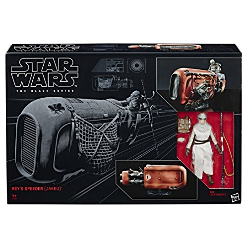 Hasbro Star Wars C1427EU4 - The Black Series 6 Zoll Rey und Speeder, Spielset