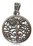 Detailverliebte Symbole und Mytische Figuren als Anhänger für eine Kette aus echtem Sterling Silver (Tree of Life (Baum des Lebens))