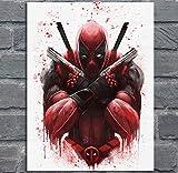 NOVELOVE Image d'art Mural Deadpool Film Affiche Imprimer Toile Peinture Cadeau sans Cadre 45 * 60cm