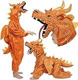 Dino Kostüm Drache Dinosaurier Feuerdrache, Größe:140 152