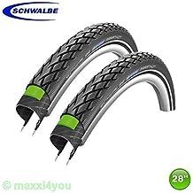 2 x Schwalbe Marathon Verde Guard Neumático de la bicicleta Cubierta + Reflex 32-622 - 01022817S2