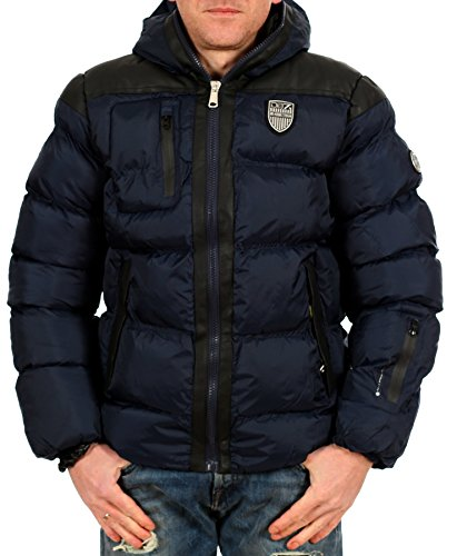 Geographical Norway Herren Winterjacke Bandana DB7 Titanium - Neu Navy